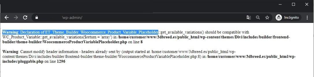 Warning: Declaration of ET_Theme_Builder_Woocommerce