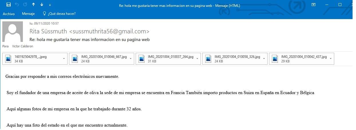 email de estafa Rita Süssmuth 2