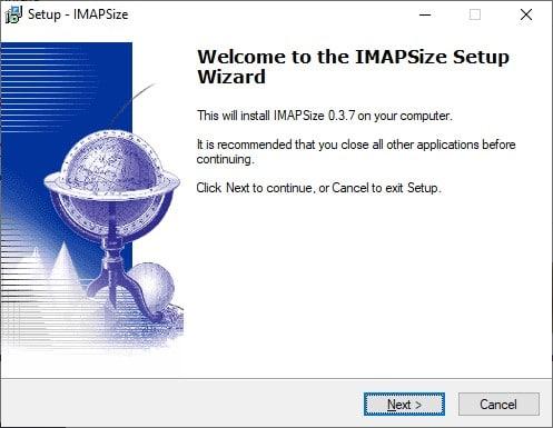 imapsize pantalla instalacion 1