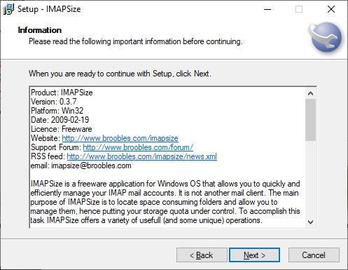 imapsize pantalla instalacion 3