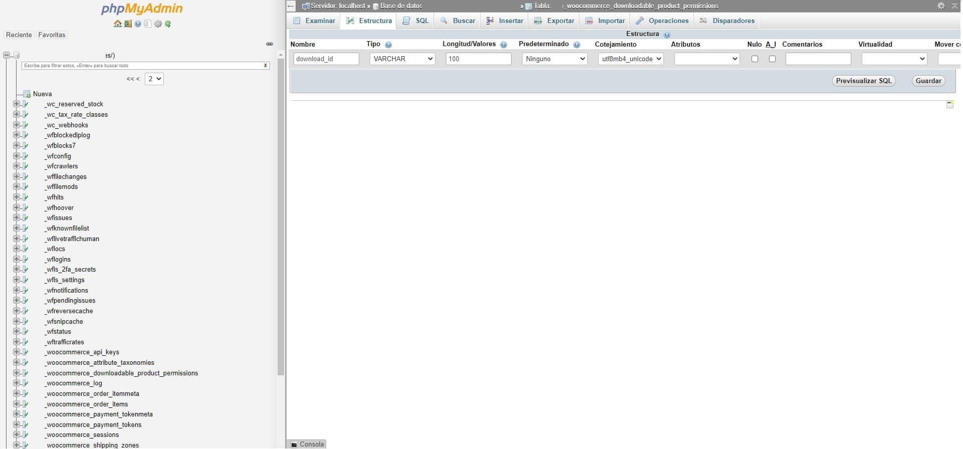 woocomerce cambiar longitud de los nombres de archivos en la base de datos